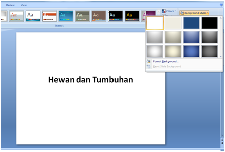Cara Mengganti Warna Background Powerpoint
