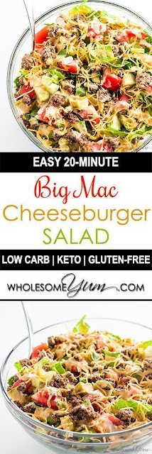 Big Mac Salad – Cheeseburger Salad (Low Carb, Gluten-Free)