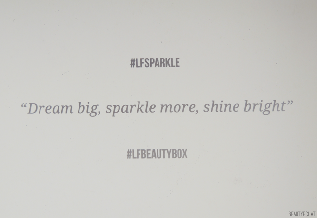 Lookfantastic Beauty box novembre 2016 sparkler edition lfsparkle revue avis test