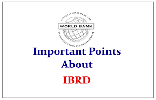 Important Points to know about IBRD