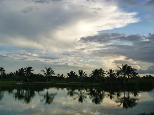 Vista da lagoa.