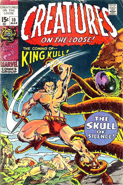 Creatures On The Loose v1 #10, 1971 marvel bronze age comic book cover - 1st Kull
