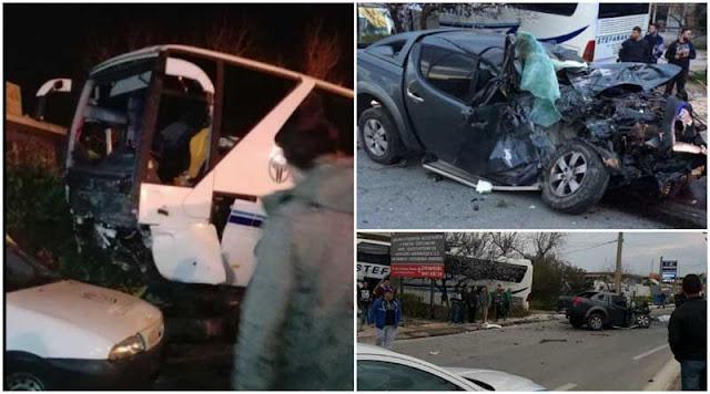 Φρικτό θανατηφόρο τροχαίο στην Αθήνα με θύμα Κρητικό Διαλύθηκε ΙΧ μετά από σύγκρουση με λεωφορείο (pics)