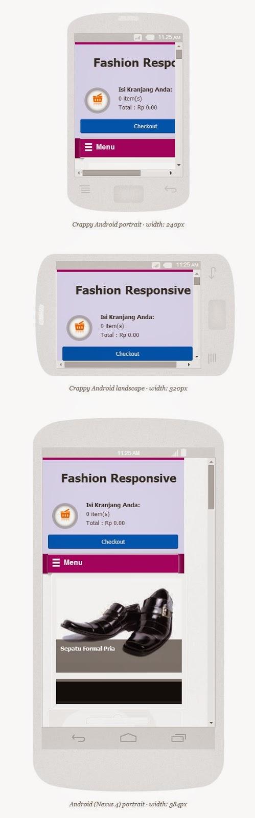 Tampilan di Android