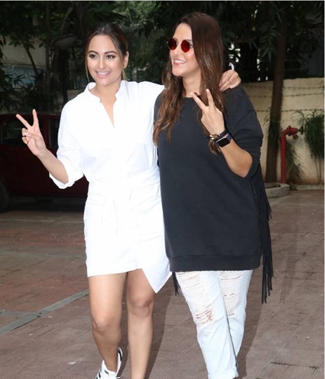 Sonakshi Sinha Shoots for Neha Dhupia's Chat NoFilterNeha Season 2