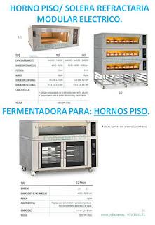 Hornos modulares Solera refractaria/ por pisos.