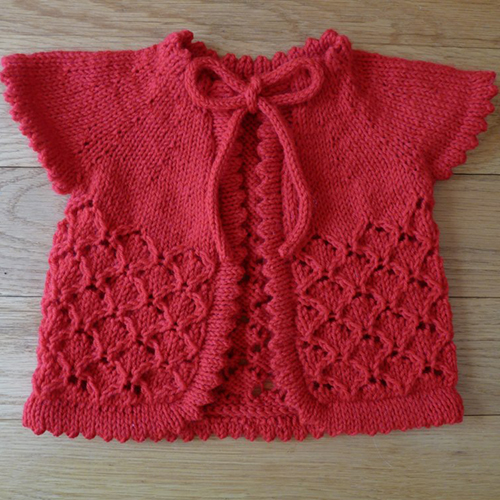 Knitting Sweater Design For Baby Girl : Daily Knitting Patterns: Baby Cherry Blossom Sweater