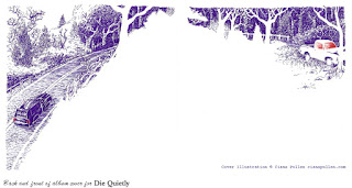 Back and front of CD cover for Die Quietly, by Ciana Pullen / St. Rhinocéros