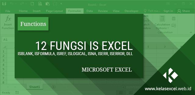 Belajar Excel Tentang 12 Fungsi IS Microsoft Excel