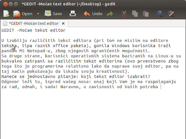 GEDIT -Moćan tekst editor