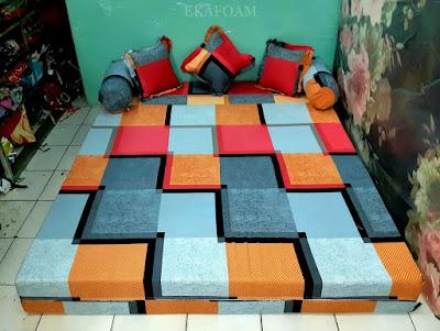 Sofa bed inoac motifminimalis cavali orange posisi kasur