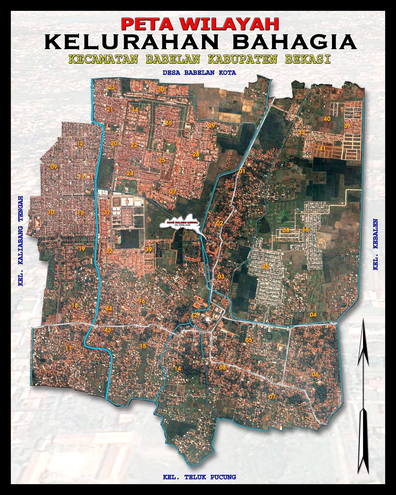 Peta Kelurahan Bahagia   rootmedia