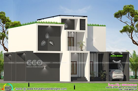 2150 square feet 4 bedroom box model contemporary home