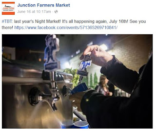 Junction Farmers Market: Junction Night Market: Fundraiser July 16, 2016