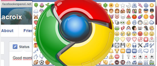 emoticones que ofrece Facebook con Google Chrome