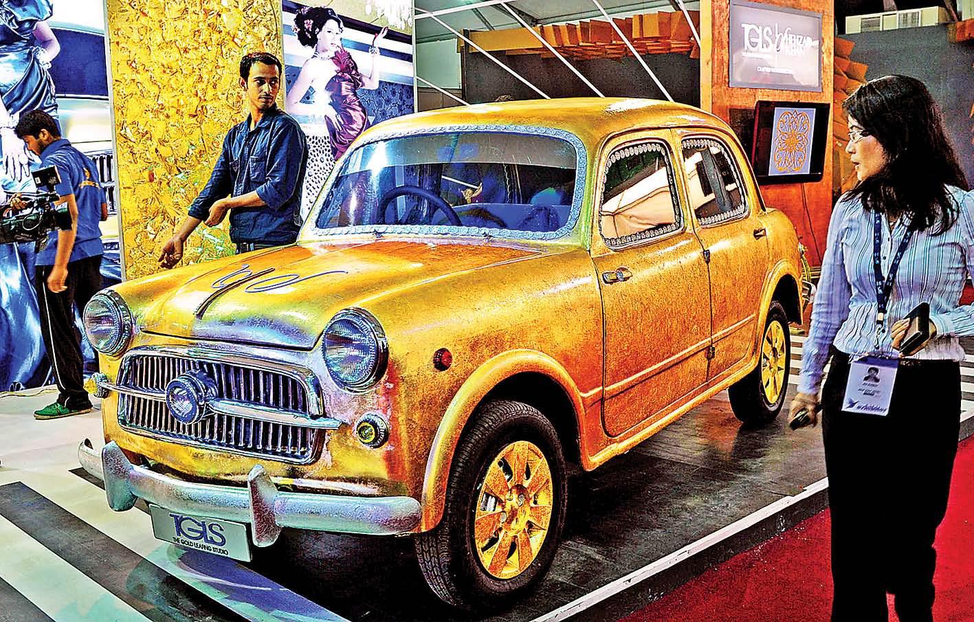 Puputupu Rose Gold Car A 1947 Fiat Dukkar Model Is On Display At