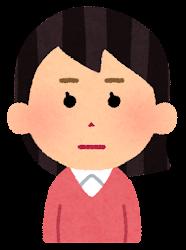 怒る女性のイラスト(段階1)