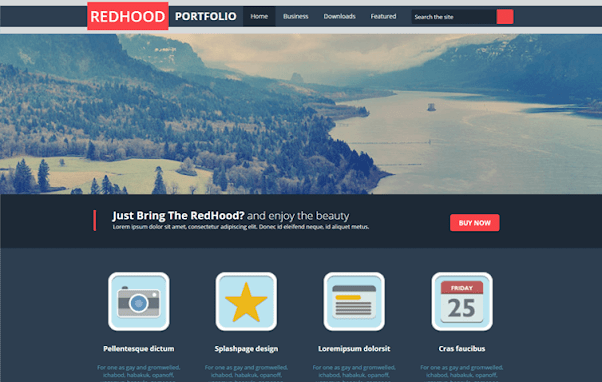 Red Hood Free Blogger Template