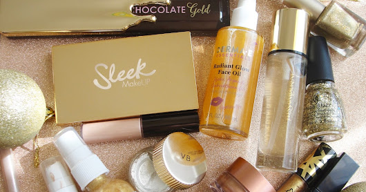 BEST GOLD BEAUTY PRODUCTS: 'TIS THE SEASON TO SPARKLE!