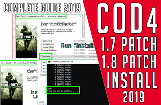 How to update call of duty 4 any version to 1.8 COD4x in 2020