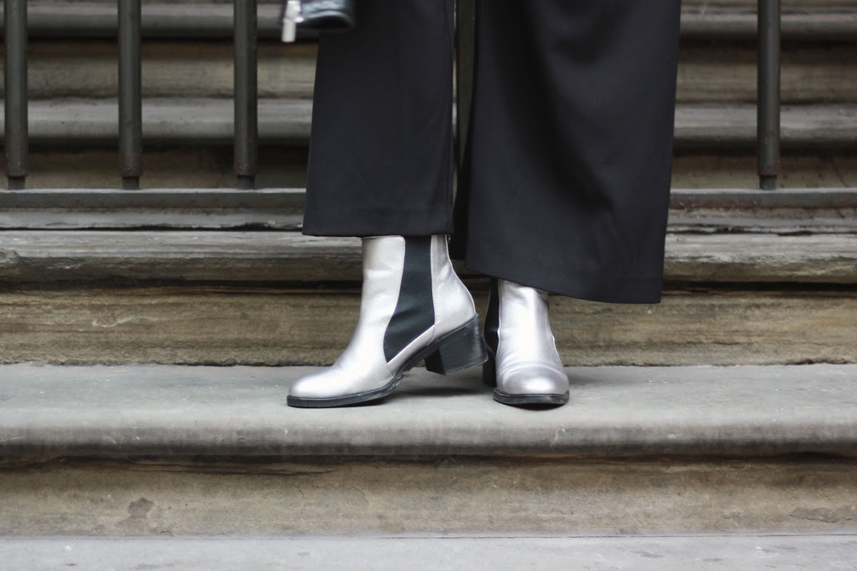 Zara silver metallic chelsea boots | www.itscohen.co.uk