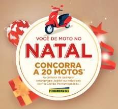 Cadastrar Promoção Pernambucanas Natal 2018 - Concorra 20 Motos Cartão Pernambucanas