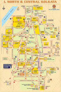 North and Central Kolkata Map