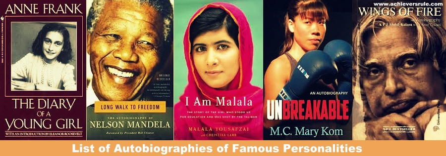 List of Autobiographies of Famous Personalities