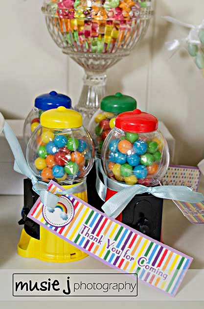 An Elegant Adult Rainbow Party printables - via BirdsParty.com