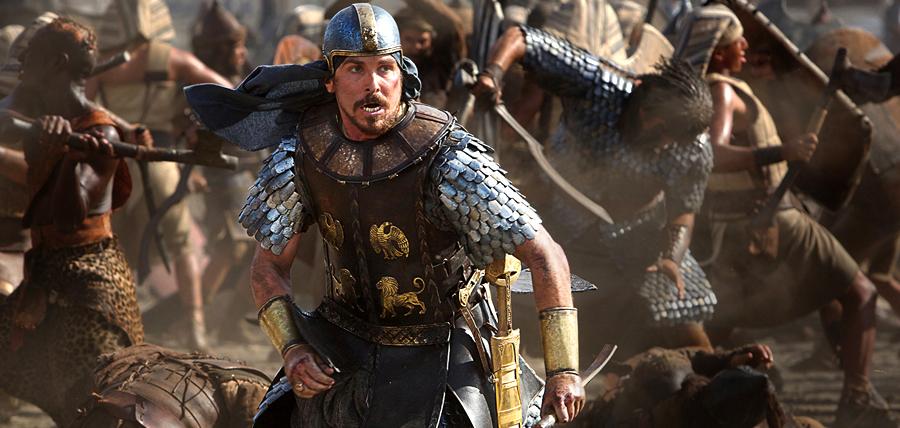 Christian Bale în rolul lui Moise din filmul Exodus: Gods and Kings