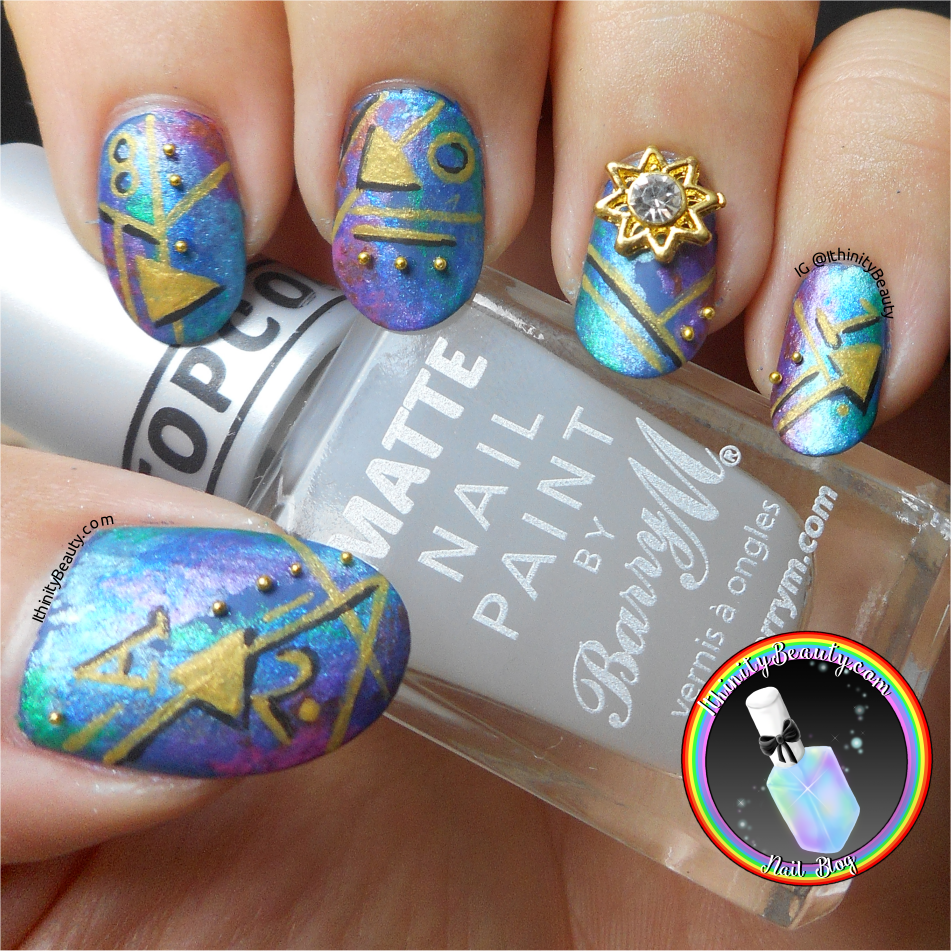 Freehand Abstract Nail Art With 3D Elements | IthinityBeauty.com ...