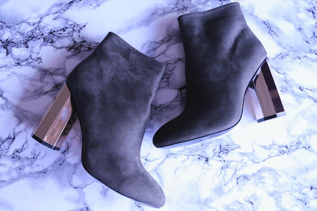 4th & Reckless Jade Faux Suede Hexagonal Heel Ankle Boots in Khaki Review
