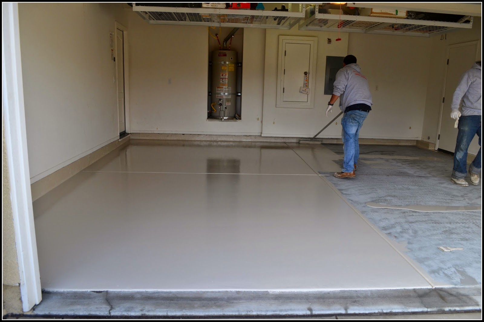 Garage Floor Gets A Makeover With Epoxy Techie S Diy
