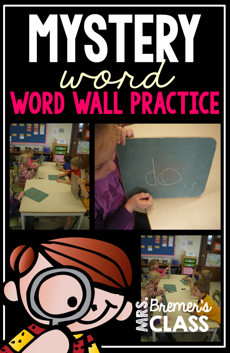 Mrs Bremer S Class Mystery Word Word Wall Game And