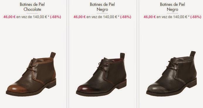 Ejemplos de botines disponibles por 46 euros.