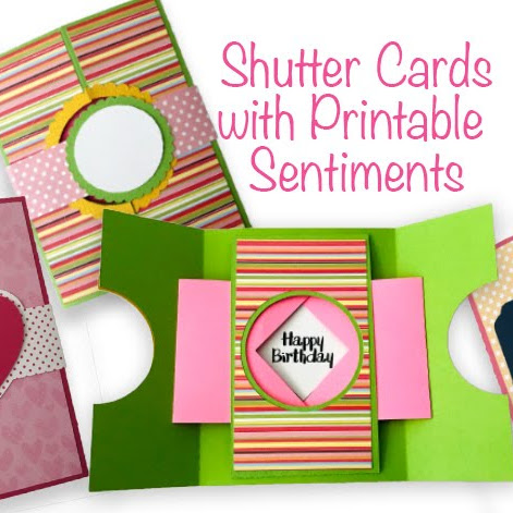 Create Shutter Cards for a Special Hello