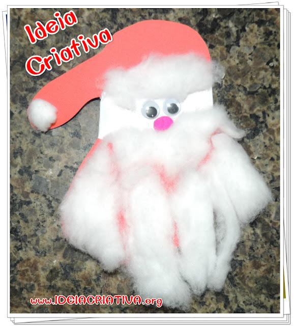 Papai Noel de Carimbo de Mãos Atividade Educação Infantil