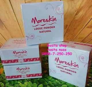 Jual khasiat manfaat Moreskin Bedak loose powder l vory