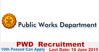 PWD 56 Clerk-Assistant Engineer Recruitment 2015