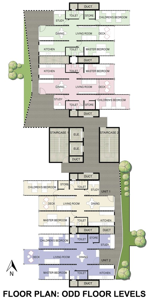 02-Plans-Configuration-Floors-Ganti-and-Associates-Architecture-Recycled-Container-Skyscraper-Homes-www-designstack-co