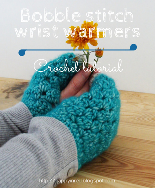 Free crochet pattern: wrist warmers | Happy in Red