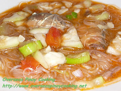 Canned Sardines with Upo and Sotanghon