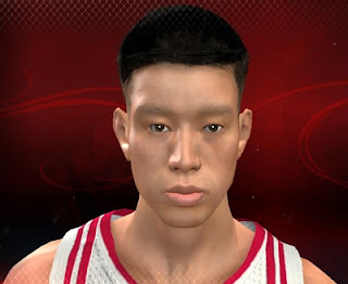NBA 2K13 Default Jeremy Lin Cyber Face