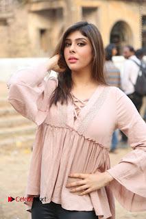Telugu Actress Aditi Singh Stills in Leather Pants at Nenu Kidnap Iyanu Movie Press Meet  0068.JPG