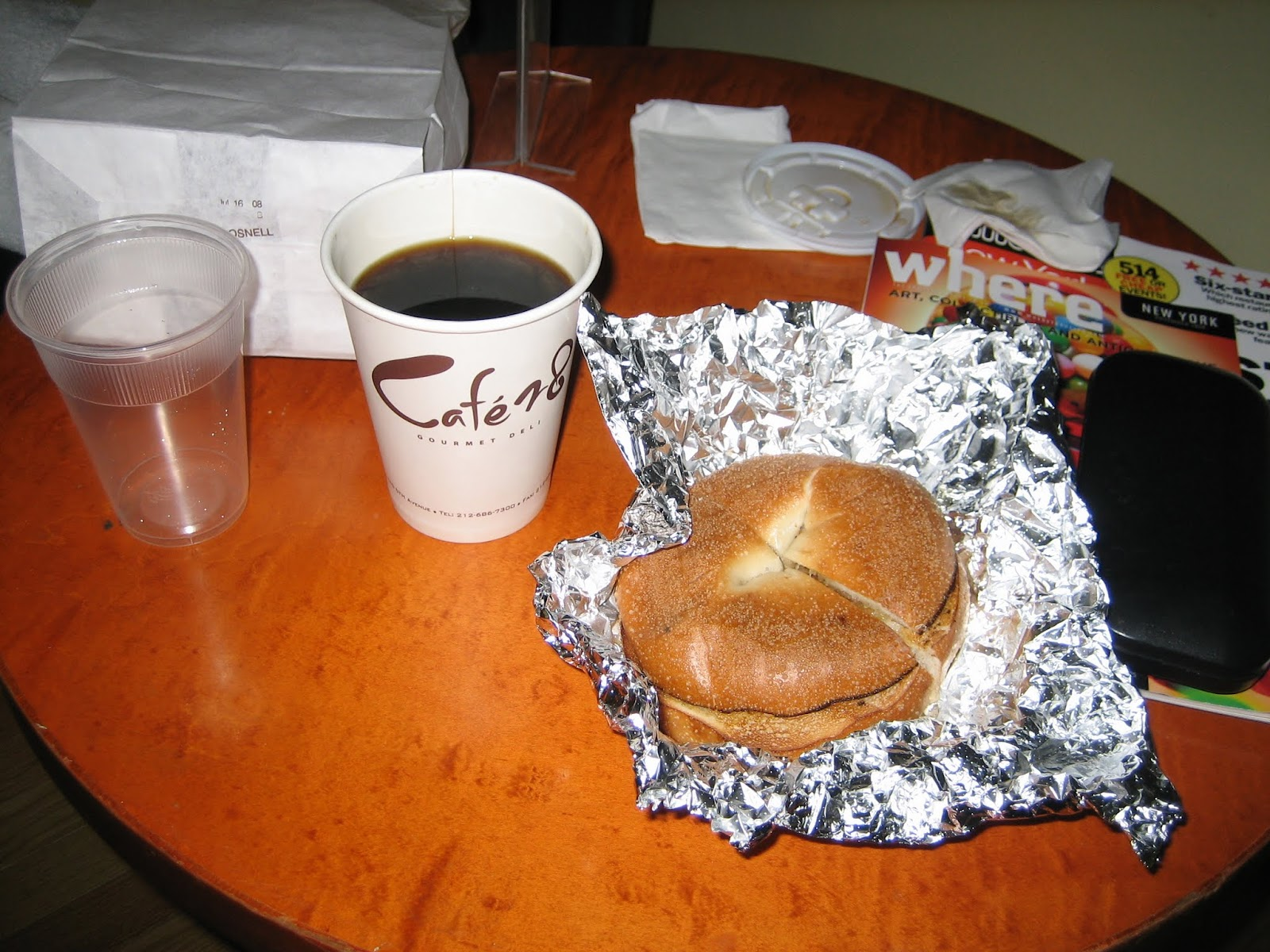 bagle-with-coffee-ny ニューヨークのベーグルとコーヒー