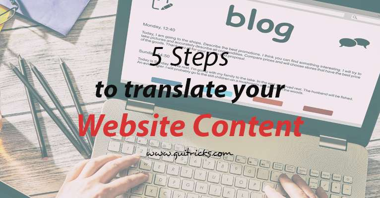 5 Steps To Translate Your Website Content