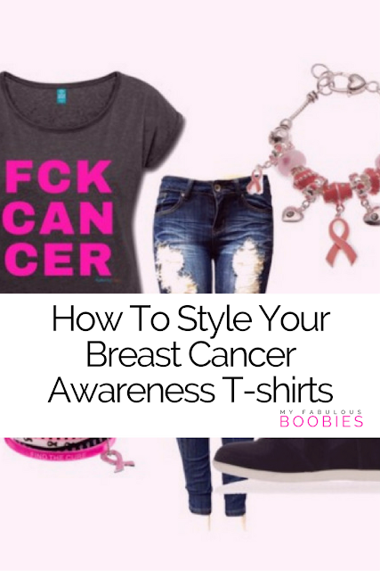 How to style your pink ribbon t-shirts | My Fabulous Boobies | Audacity Tees