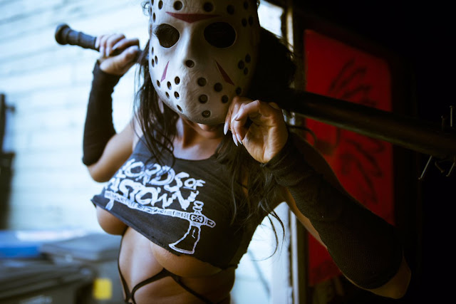 Friday the 13th cosplay girl. Image Rick Legal Photo