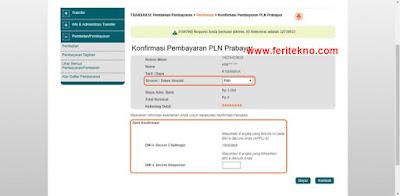 beli token listrik via internet banking bni 4