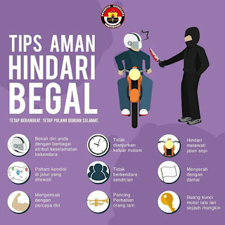 tips aman hindari begal